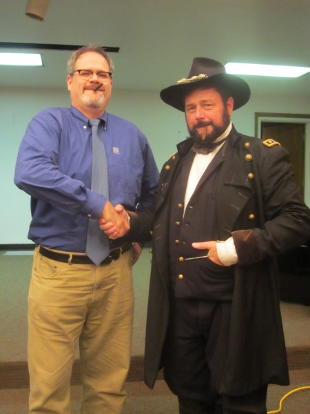 Duffy with Ulysses S. Grant, portrayed by Ken Serfass.