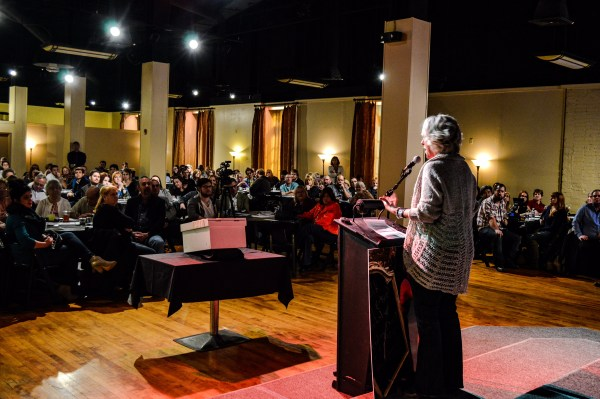 """Amy Cordy, owner of the Vintage Cottage at Centre Market, was one of four presenters during the most recent """"Show of Hands"""" event."""