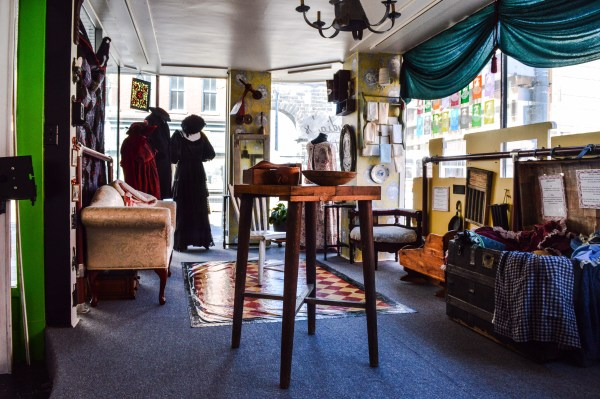 """""""Lydia's Attic"""" is a storefront area that is dedicated to the memory of Lydia Boggs Shepherd, a legend in Wheeling's history."""