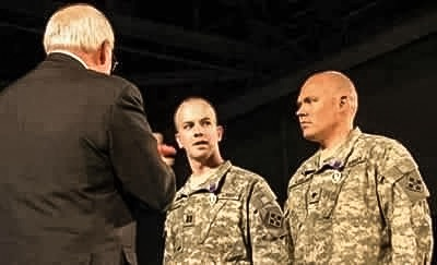 Van Camp was awarded the Purple Heart following his first tour in Iraq.