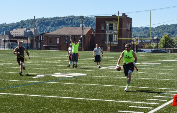 Touchdowns are touchdowns in any football game and it is true during Ohio Valley Recreational League action, too.