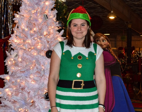 Salena Wilson is one of six employees working at the Imperial Christmas Shoppe this holiday season.