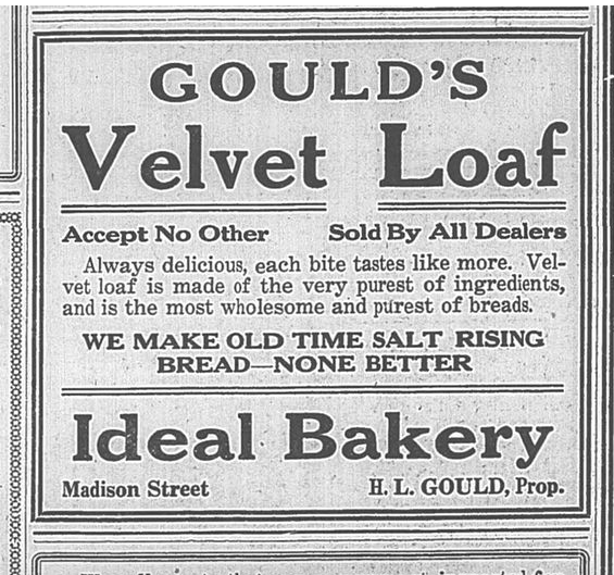Salt Rising Bread Ad