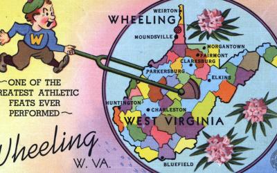 wheeling postcard