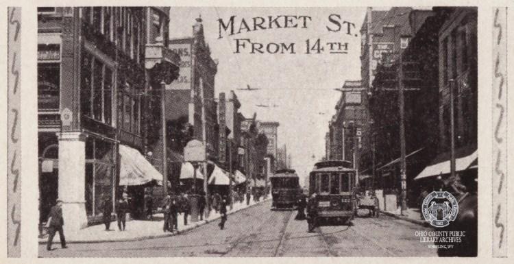 market st wheeling postcard
