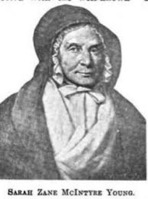 Sarah Zane McIntire Young Depicted in her old age