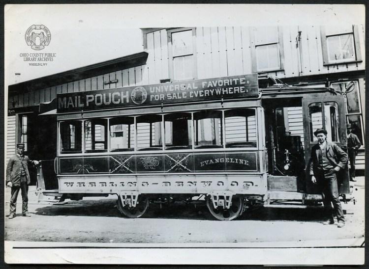 "Wheeling Railway Company Streetcar ""Evangeline."""