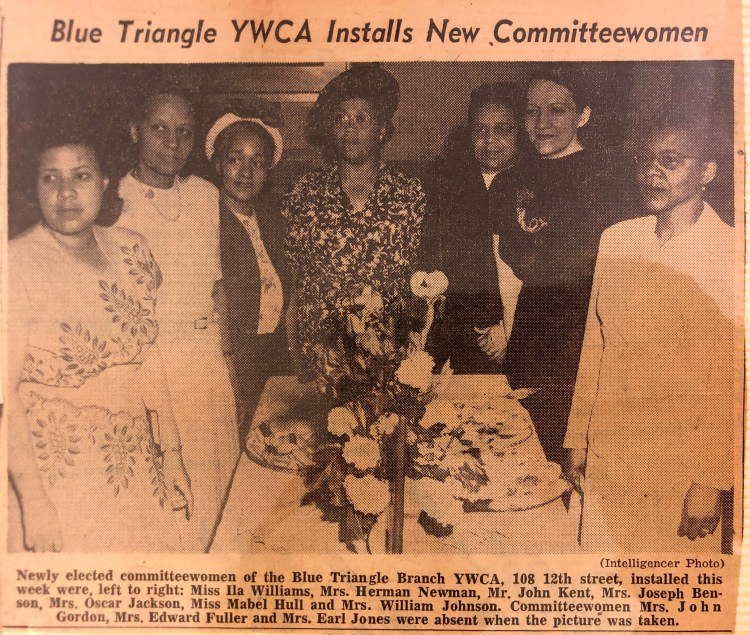 Mabel Hull with other YWCA Blue Triangle Committee Members