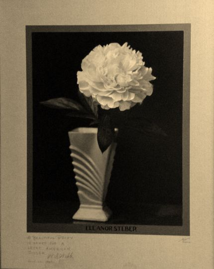 The Webbs named one of their peony varieties after Warwood's Eleanor Steber