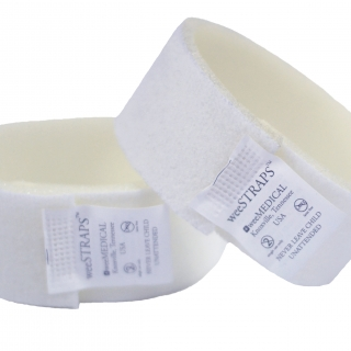weeSTRAPS disposable velcro straps for use with weeSecure or other circumstraint boards, to aid in newborn circumcision and other medical procedures.