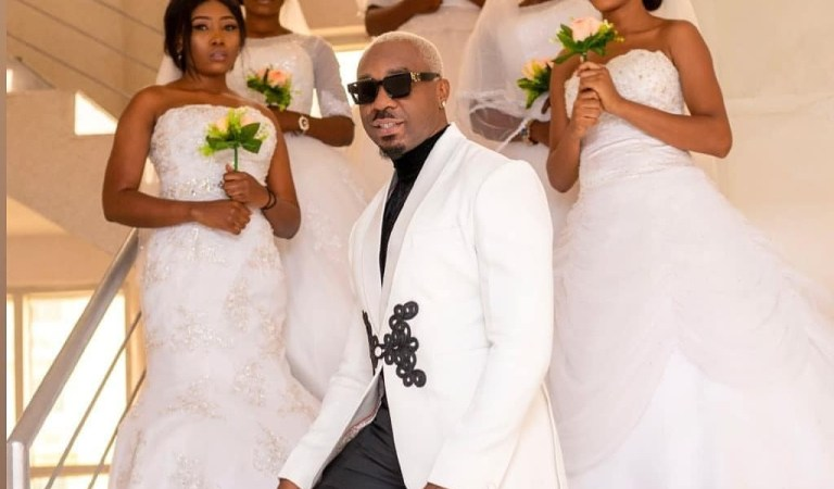 Pretty Mike storms wedding reception with five ladies dressed as brides (video)