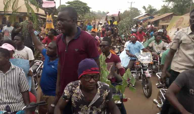 C/River Council Polls: Youth Group Protest Alleged Imposition of Candidates in Obubra