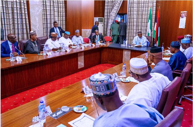 BREAKING: Confusion Hits Nigeria As Northern Governors Meet President Buhari, Reject Disbandment Of SARS