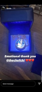 Chioma Gifts Davido A Priceless Necklace For His Birthday