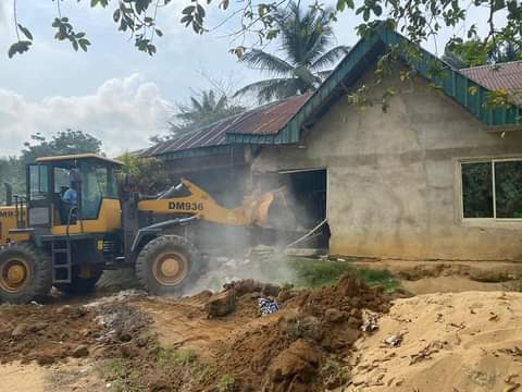 Insecurity: Cross River Govt Goes Hard On Criminals, Demolished Kidnap Kingpin Houses (Photos+Video)