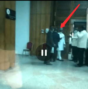 CCTV Footage of How Ayade's Aide Was Thrown Out of National Assembly, After Trying To Force Himself In... (Video+Photos)