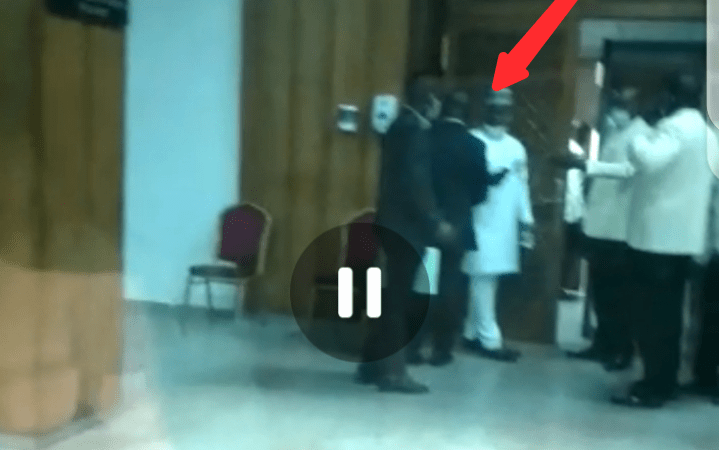 CCTV Footage of How Ayade's Aide Was Thrown Out of National Assembly, After Trying To Force Himself In… (Video+Photos)
