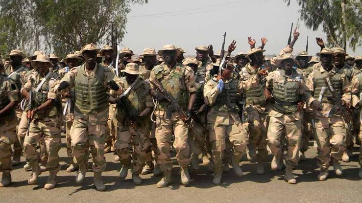 BREAKING!!! Panic As Nigerian Soldiers Protest Over Unpaid Allowances, Shoots Sporadically