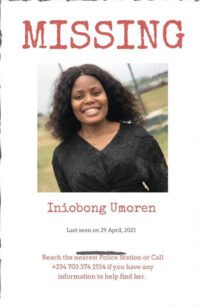BREAKING!! Missing Uyo Job Seeker, Iniubong Umoren, Slaughtered And Buried In A Shallow Grave
