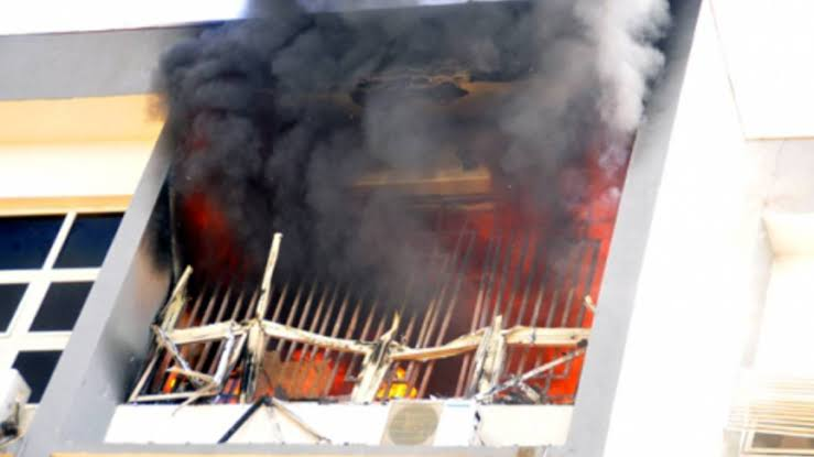 Unrest In Akwa Ibom State As Unknown Gunmen Set INEC Office On Fire, Kill 12 Cows