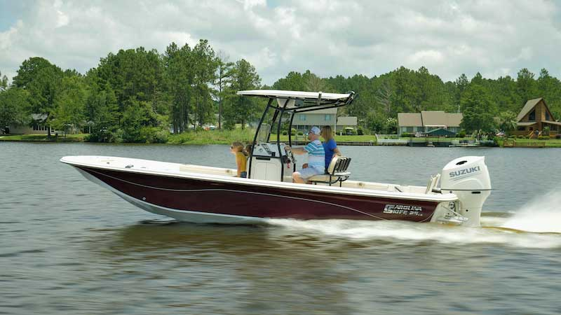 Carolina Skiff 25 LS Running