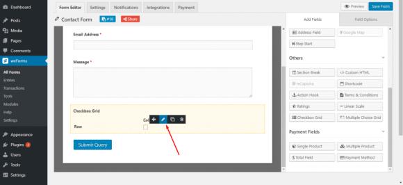 Edit checkbox on WordPress form