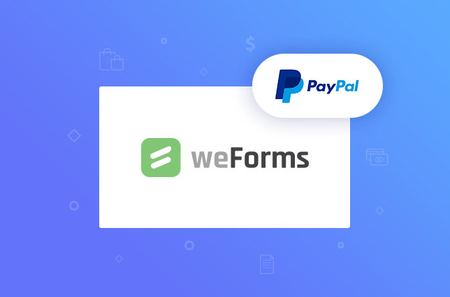 weForms provides a PayPal and WordPress integration for your contact forms