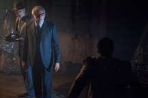 """DC's Legends of Tomorrow -- """"Night of the Hawk"""" -- Image LGN108a_0493.jpg -- Pictured (L-R): Wentworth Miller as Leonard Snart / Captain Cold and Victor Garber as Professor Martin Stein -- Photo: Dean Buscher/The CW -- © 2016 The CW Network, LLC. All Rights Reserved"""