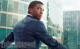 """As T'Challa, the prince of the secretive, technologically advanced African nation of Wakanda, Chadwick Boseman looks like a man in charge no matter which suit he's wearing – civilian or the vibranium-woven uniform of the Black Panther. He's on #TeamIronMan, supporting restrictions on the powerful (even though he's breaking a lot of those rules to get revenge on The Winter Soldier for a crime against his family.) """"He comes into it because, as a world leader, there is a need to make sure there is some sort of control over these superpowers,"""" Boseman says. """"It's like if there were nuclear weapons, the world leaders would come together at the U.N. and decide who should have them. It's the same thing with superheroes. He has an interest in making sure this power doesn't go without some restraints and control and some limitations."""""""