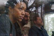 Andrew Lincoln as Rick Grimes; Michael Cudlitza as Sgt Abraham Ford; Sonequa Martin-Green as Sasha - The Walking Dead _ Season 6, Episode 16 - Photo Credit: Gene Page/AMC