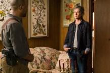 Lennie James as Morgan Jones, Melissa McBride as Carol Peletier- The Walking Dead _ Season 7, Episode 8 - Photo Credit: Gene Page/AMC