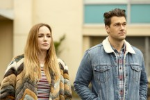 """DC's Legends of Tomorrow --""""Raiders of the Lost Art""""-- LGN209c_0050.jpg -- Pictured (L-R): Caity Lotz as Sara Lance/White Canary and Nick Zano as Nate Heywood/Steel -- Photo: Bettina Strauss/The CW -- © 2017 The CW Network, LLC. All Rights Reserved"""