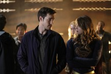 """Supergirl -- """"Supergirl Lives"""" -- Image SPG209b_0325.jpg -- Pictured: (L-R) Chris Wood as Mike/Mon-El and Melissa Benoist as Kara/Supergirl -- Photo: Robert Falconer/The CW -- © 2017 The CW Network, LLC. All Rights Reserved"""