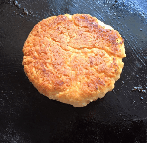 Buttermilk biscuit, bottom showing