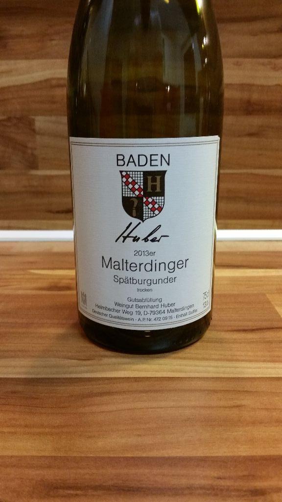 Bernhard Huber, Baden – Malterdinger Spätburgunder trocken 2013