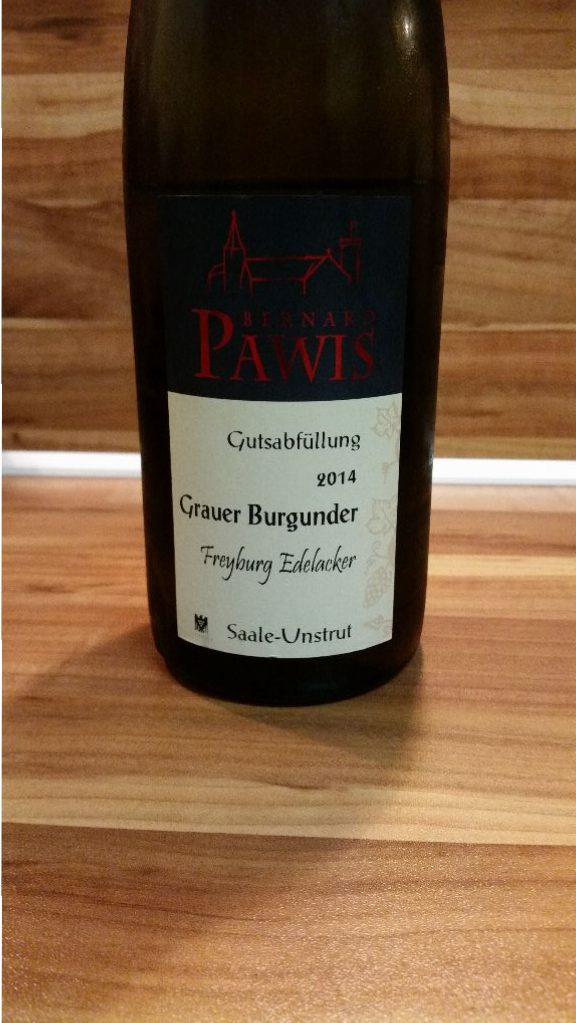 Pawis, Saale-Unstrut – Freyburger Edelacker Grauburgunder trocken 2014