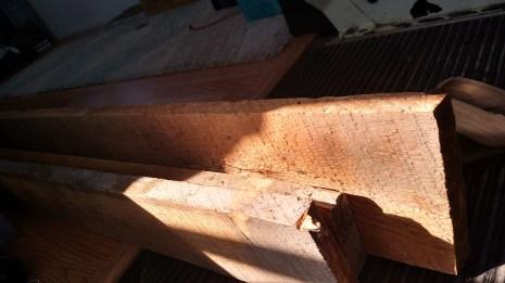 The cedar boards