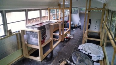 Framing out the kitchen