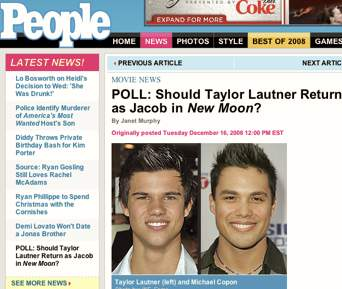 MICHAEL in a PEOPLE MAGAZINE POLL