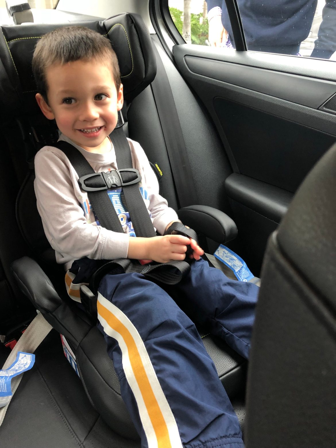 My Three Year Old Was Absolutely Thrilled To Sit In The IMMI GO Hes Still A Convertible Car Seat At Home So This Big Step Up For Him