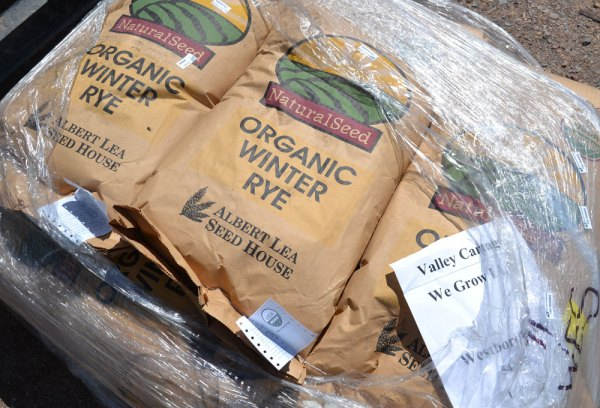 Organic Rye delivered to We Grow LLC