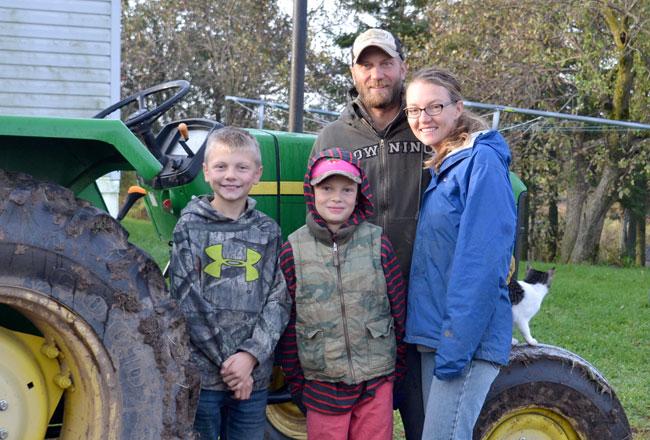The We Grow farm family Gus, Dene, Eric and Rebecca