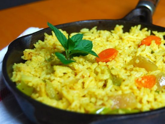 Indian-Style Vegetable Fried Rice