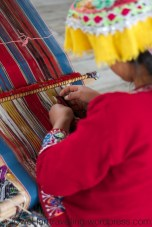 Peruvian lady weaving