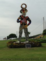 Crazy statue in the park
