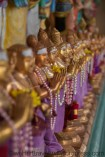 Beautiful golden statues of the Hindu Temple