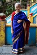 Beautiful Hindu lady returning from prayer