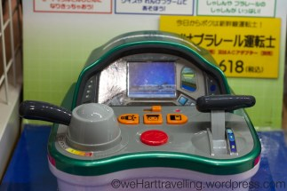 Shinkansen driving game (sadly not enough space in our bags)