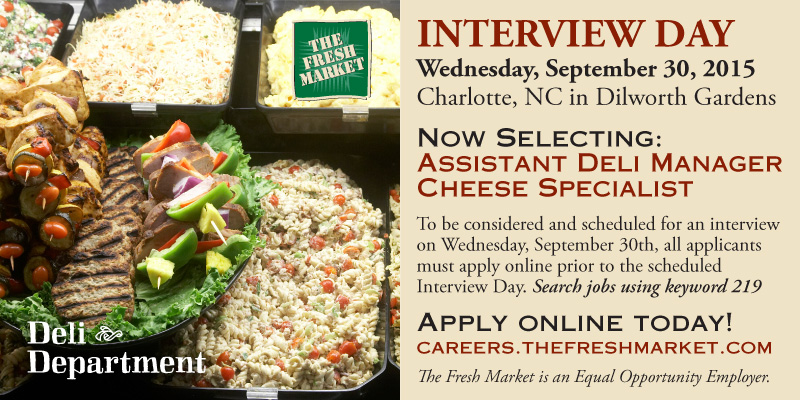 Assistant Deli Manager Jobs In Dilworth Gardens Charlotte