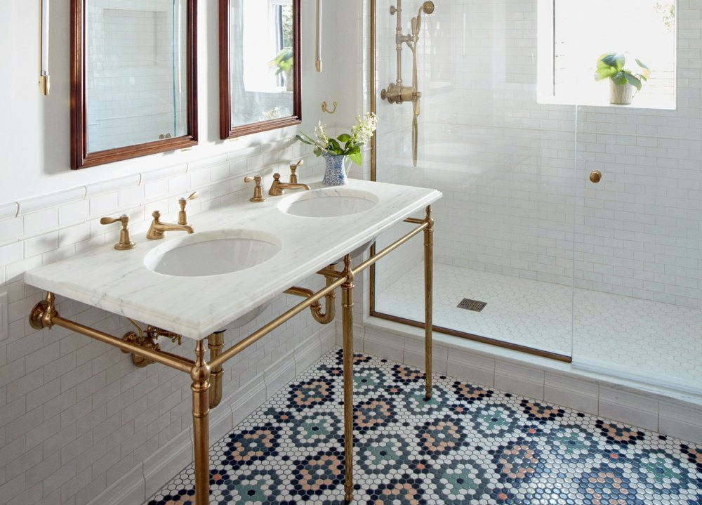 back in tile classic mosaic flooring